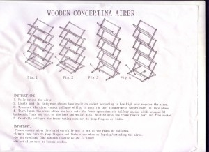 Airer Instructions