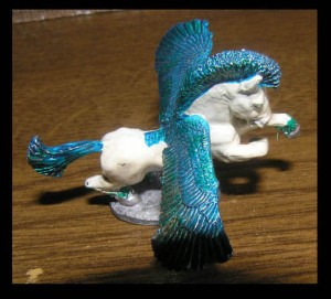 Blue & White Pegasus for Playing D&D