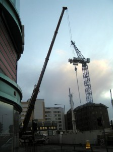 Project 365, Day 7 - The Crane That Bought Harrow to a Halt