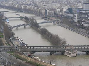 Alley de Cygnes, The Seine: From The Eiffel Tower