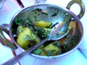 Sag Aloo - Spinach & Potatoes