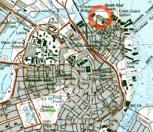 Boston Great Molasses Flood Area Map